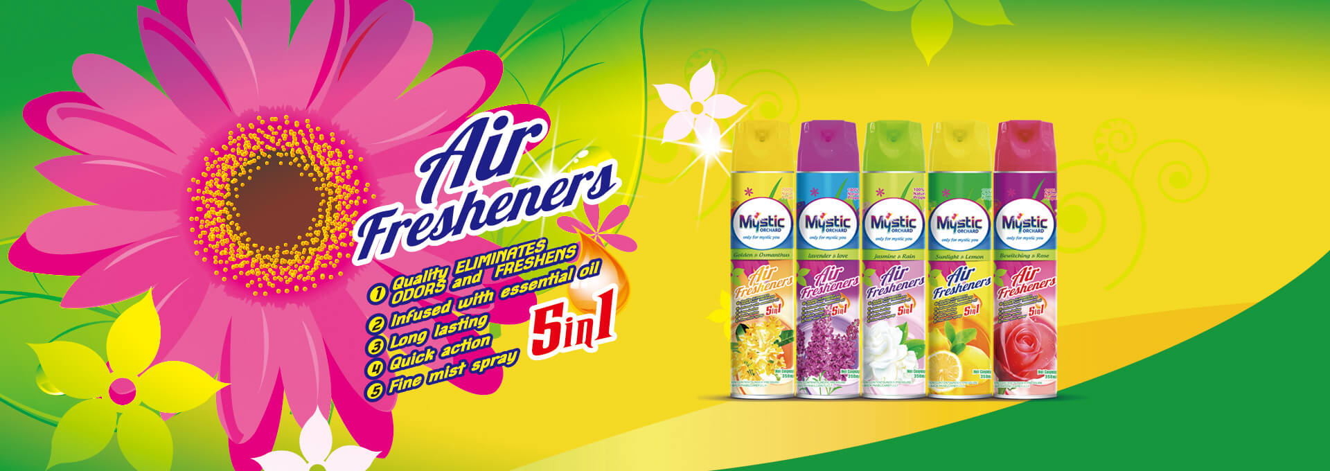 Air Fresheners Sunlight Lemon 350ml Mystic